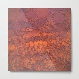 Percolated Sunset in Warm Tones Metal Print