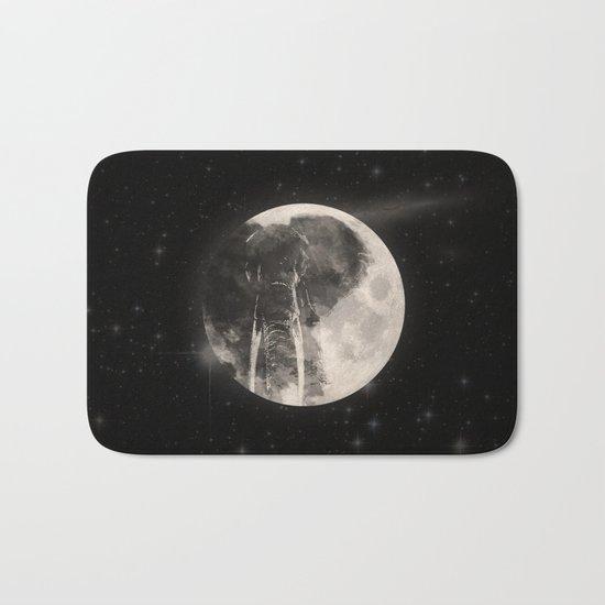 The Elephant in The Moon Bath Mat