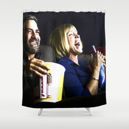 """Frances McDormand and George Clooney @ film """"Burn After Reading"""" (Joel & Ethan Coen - 2008) Shower Curtain"""