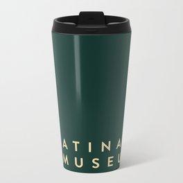 A Latina in Museums (box) Metal Travel Mug