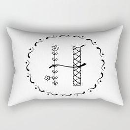 H - decorative monogram. Rectangular Pillow