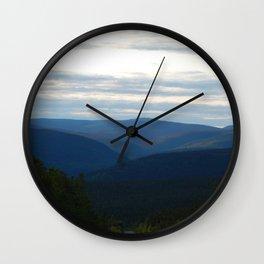 Wild Mountain Pass Wall Clock