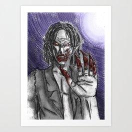 Savage Vampire  Art Print