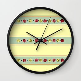 A Rosey Outlook Yellow Wall Clock
