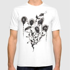 Flowers Mens Fitted Tee White MEDIUM