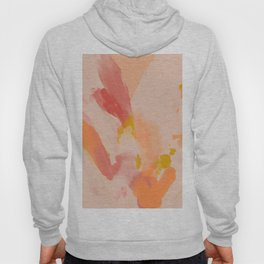 Abstract Peach Watercolor Hoody