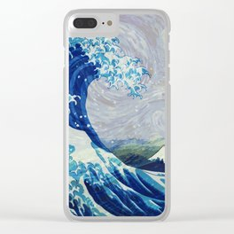 The Starry Night Wave Clear iPhone Case