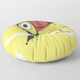 Swank Mid Century Modern Toucan Tiki Bird With Martini Floor Pillow