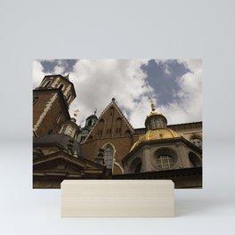 Krakow Poland cathedral church photo digital color Mini Art Print