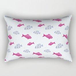 Cute fish colorful pattern Rectangular Pillow