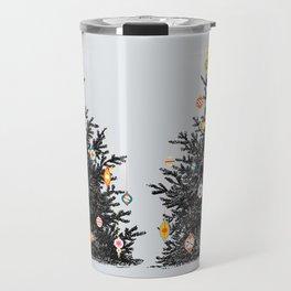 Decorated christmas tree Travel Mug