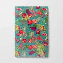 Colorful Veggie scramble Metal Print