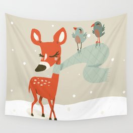 Winter Deer Wall Tapestry