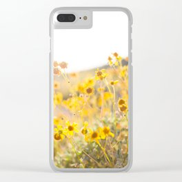 Arizona Wildflowers Clear iPhone Case