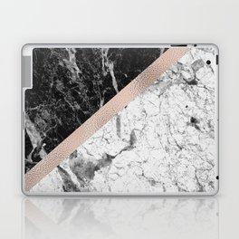 Monochrome marble designer - rose gold Laptop & iPad Skin