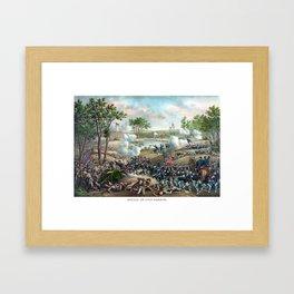Battle of Cold Harbor -- Civil War Framed Art Print