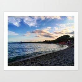 Sardinian beach Art Print