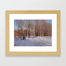 March. Dacha. Framed Art Print