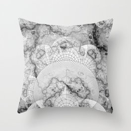 Foliated Marble as a Geometric Map of the Universe Throw Pillow