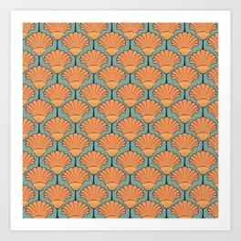 Deco Shells Art Print