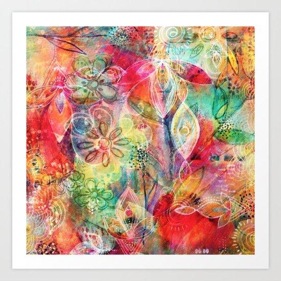 Summer Floral Dreams Art Print