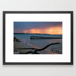 Summer rain Framed Art Print