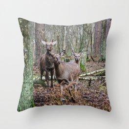 Noble family Throw Pillow