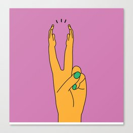 Clapping Fingers Canvas Print