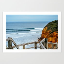 Sets, Bells Beach, Victoria, Australia Art Print
