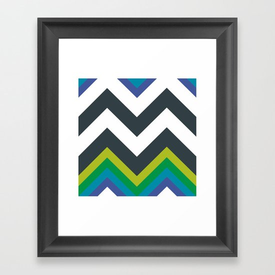 Chevron_Galaxy Framed Art Print