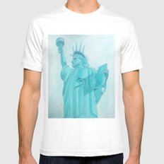 BROOKLYN LIBERTY Mens Fitted Tee White MEDIUM