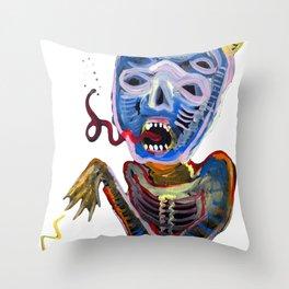 demoniooOOoOOoOooo #1 Throw Pillow