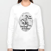 bob dylan Long Sleeve T-shirts featuring Bob Dylan by Required Animals