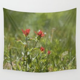 Indian Paintbrush Painterly Wall Tapestry