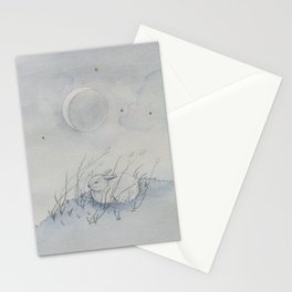 luna lapin / moon bunny rabbit Stationery Cards