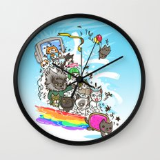 Release The Cats Wall Clock