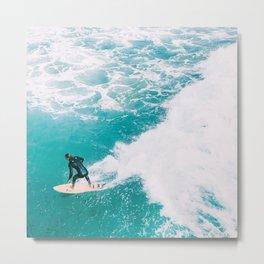 California Colors - Surfing - v7 Metal Print