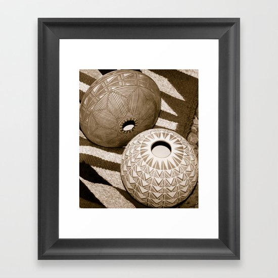 Indian Pottery Framed Art Print