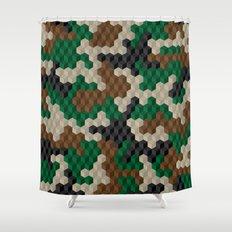 CUBOUFLAGE Shower Curtain
