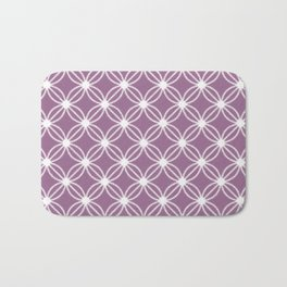 Abstract Circle Dots Purple Bath Mat