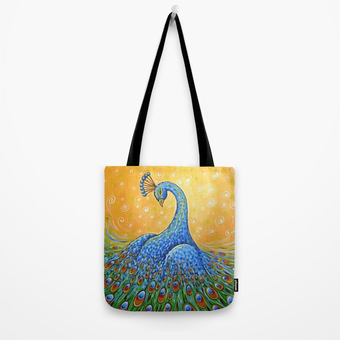 Peacock ... Showing Off Tote Bag
