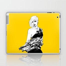 Arbitrary - Badass girl with gun in comic and pop art style Laptop & iPad Skin