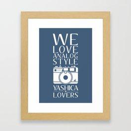 """""""We Love Analog"""" Framed Art Print"""