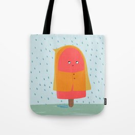Ice lolly under the rain Tote Bag