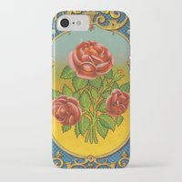 fez iPhone & iPod Cases featuring Vintage Fez Label with Roses by Connie Goldman