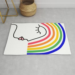 Rainbow Head Nº2 - Happy Pride colours Rug