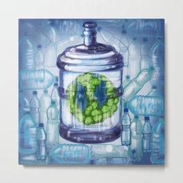 Worlds plastic Metal Print