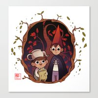 over the garden wall Canvas Prints featuring Over the garden wall by Willow