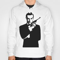 james bond Hoodies featuring James Bond 007 by Walter Eckland