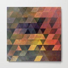 Graphic // isometric grid // chyynxxys Metal Print
